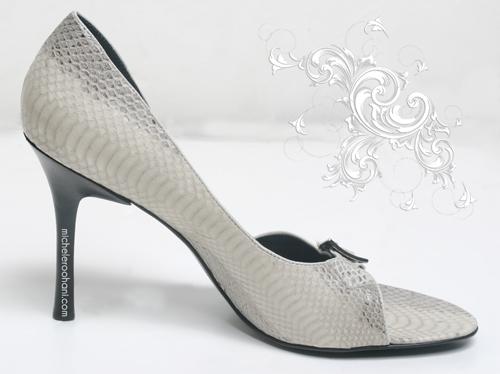 white high heel shoe michele roohani