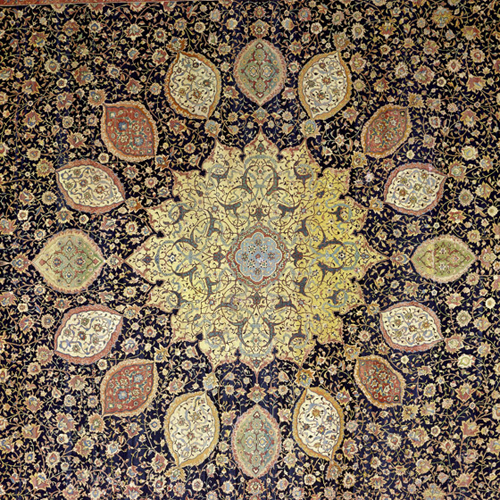 ardabil carpet central medallion micheleroohani