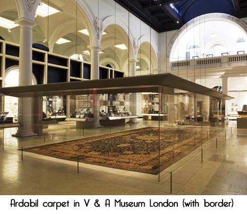 ardabil carpet V&A museum Richard Wait micheleroohani