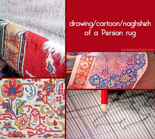 cartoon drawing naghsheh persian rug michele roohani