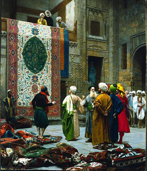 jean leon gerome carpet merchant marché du tapis michele roohani