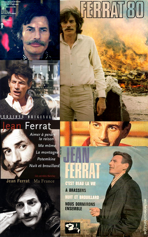 lp disc covers jean ferrat michele roohani