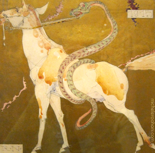 neutra horse and snake painting michele roohani