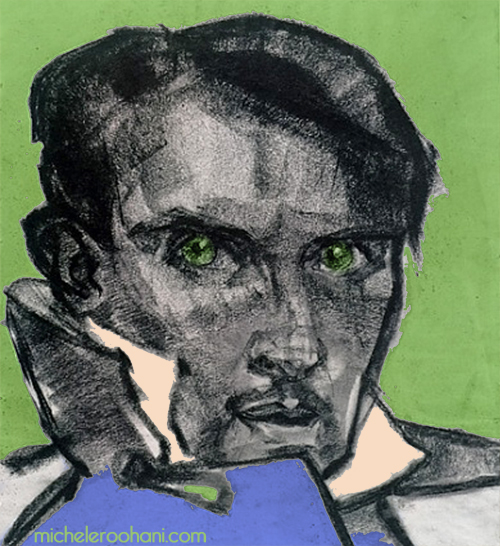 richard neutra self portrait in blue green michele roohani