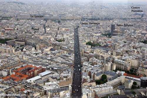 aerial photo of paris landmarks michele roohani