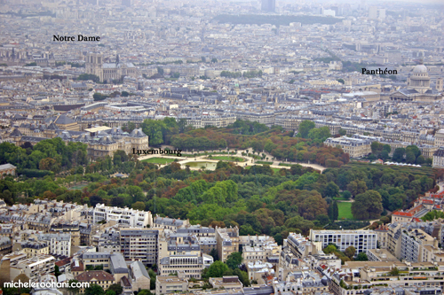 aerial view of paris from montparnasse michele roohani