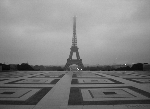 gray eiffel tower michele roohani