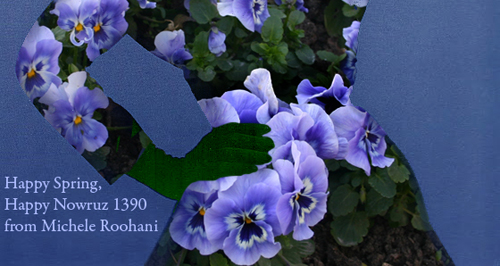 Nowruz 1390 michele roohani pansies on Dovima