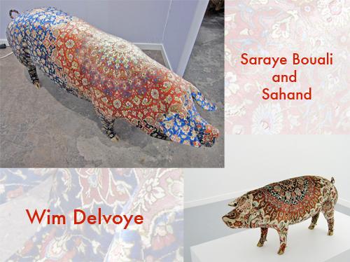wim delvoye sahand pig persian carpet michele roohani