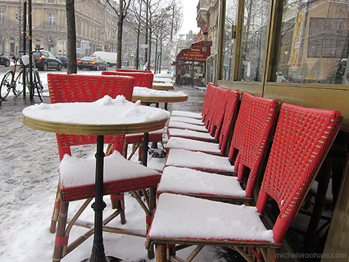 café tables paris snow michele roohani