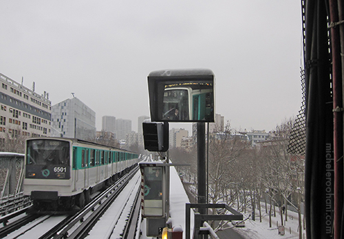 metro paris snow michele roohani