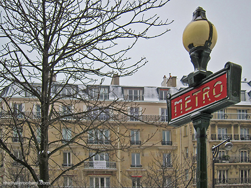 metro sign paris michele roohani