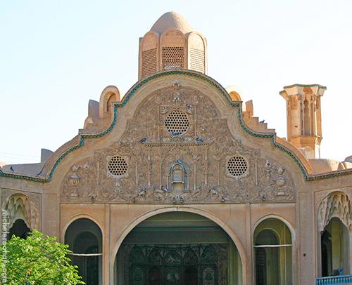 Boroujerdi house main facade kashan