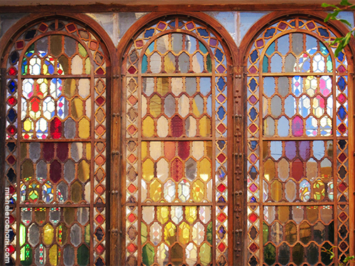 Boroujerdi stained glass windows kashan michele roohani