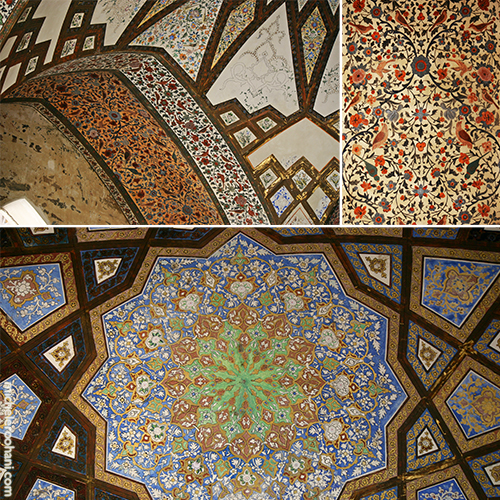 Kashan ceiling paintings michele rouhani