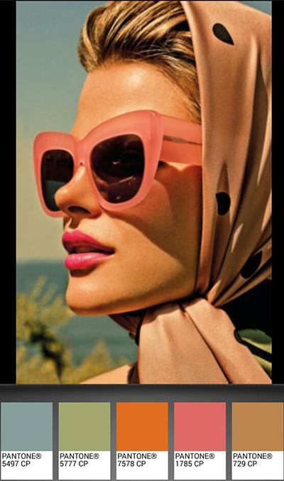 michele roohani hot summer Pantone palette