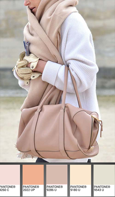 michele roohani rose sand Pantone palette