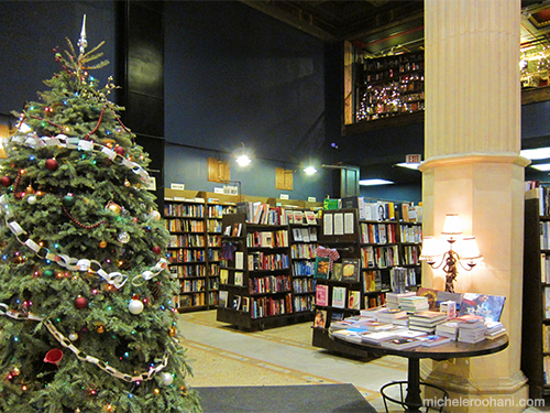 michele roohani last bookstore christmas tree