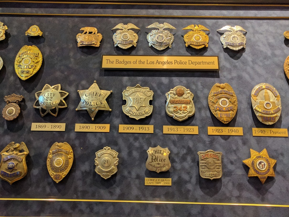 LAPD museum badges michele roohani