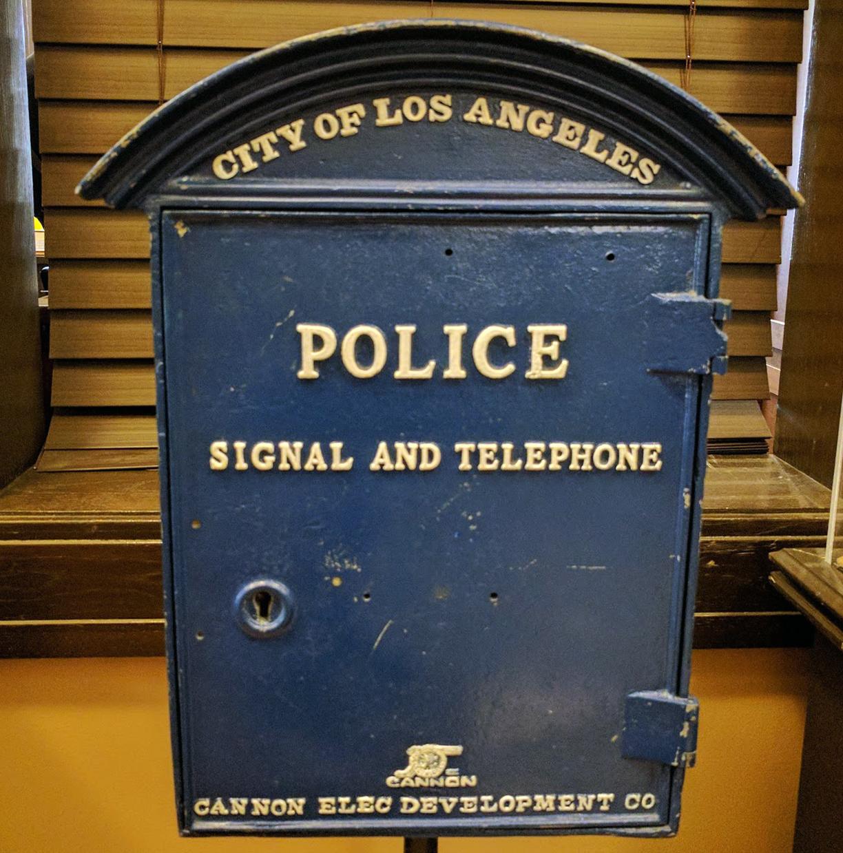 LAPD museum phone box michele roohani